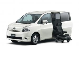 EVA коврики на Toyota Voxy II R70 (2007-2013)(8 мест) комплектация с салазками
